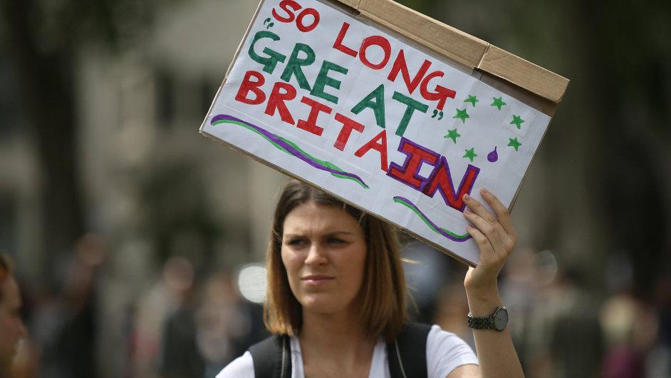 Demonstrace proti brexitu