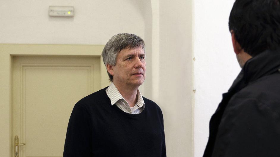 Exnáměstek ministra financí Tomáš Zídek u obvodního soudu pro Prahu 1. Praha