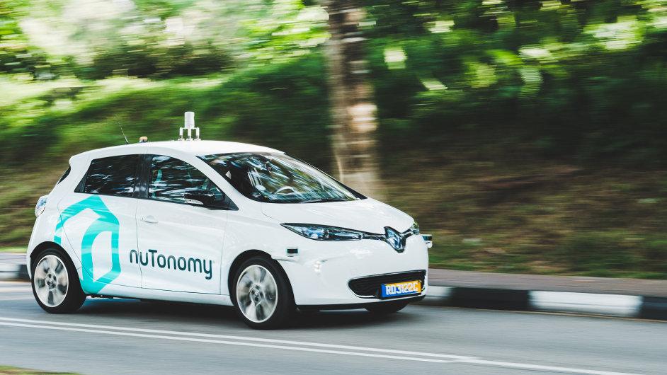 Samořídící taxi společnosti nuTonomy.