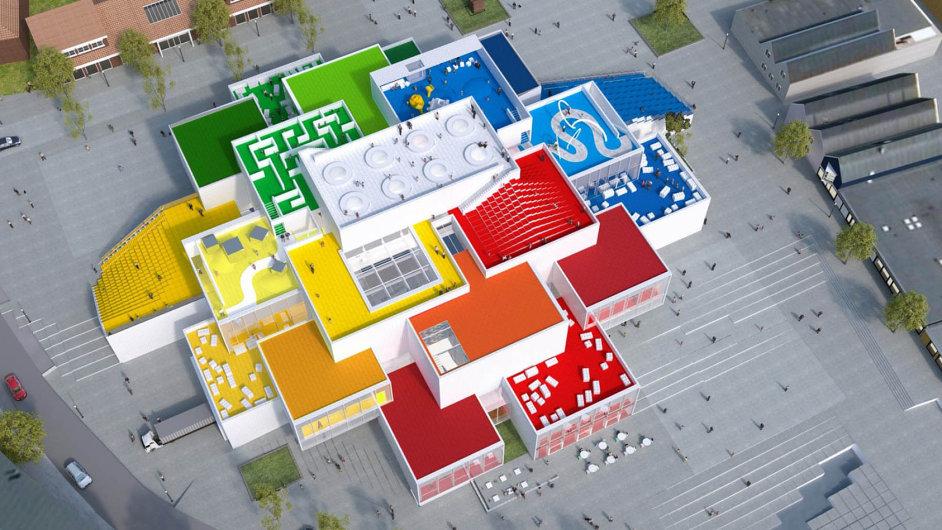 Pro Lego typická kostka 4 × 2 bude poslední tečkou celé budovy Lego domu. Architektům ji doporučili fanoušci sdružení vklubu Adult Fans of Lego.