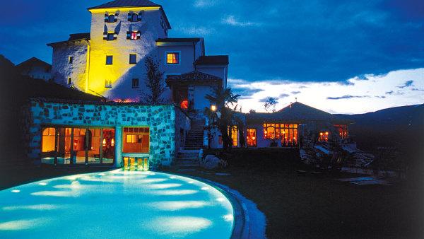 Hotel Turm v Jižním Tyrolsku - moderní design v historických zdech ze 13. století.