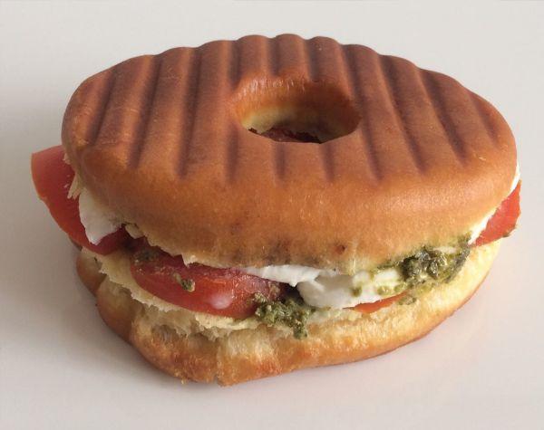 Donut Sandwich Caprese 2