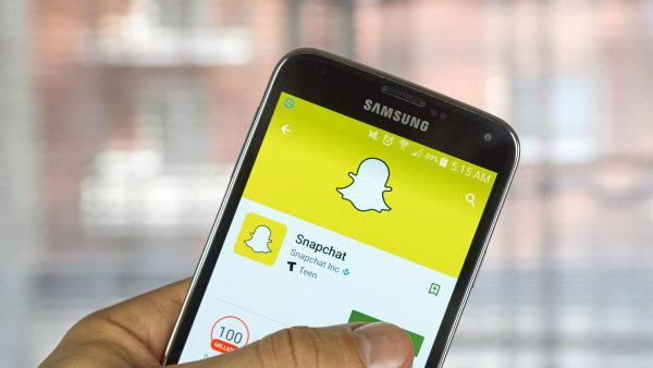 Společnost Snap provozuje mobilní aplikaci Snapchat.