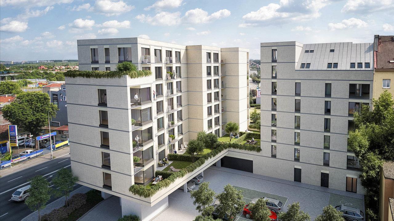 Developer Conti Development zahájil výstavbu bytového komplexu odvou věžích Sky Rezidence Bohdalec nanároží ulic Bohdalecká aUPlynárny vPraze 10.