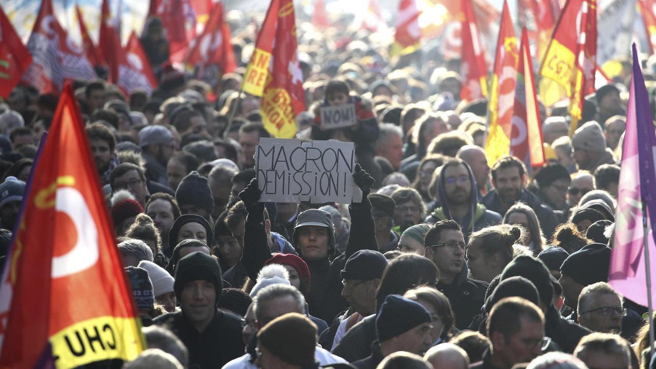 Francie stávka protest