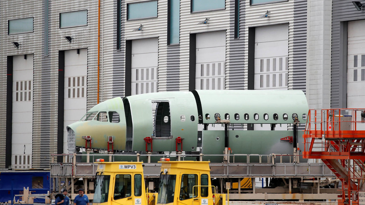 Výrobní hala Airbusu ve Francii