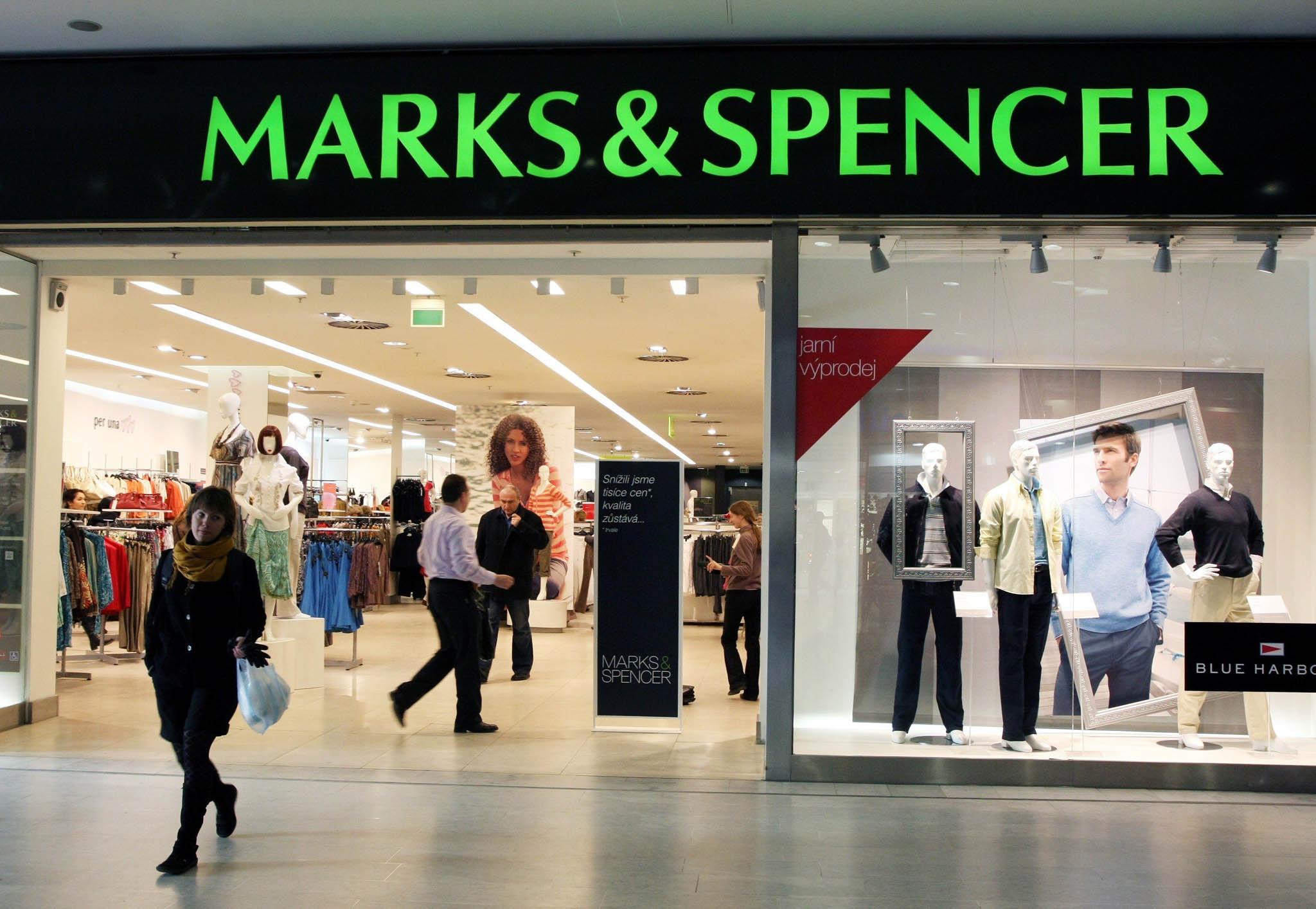 Britský maloobchodní řetězec Marks & Spencer.