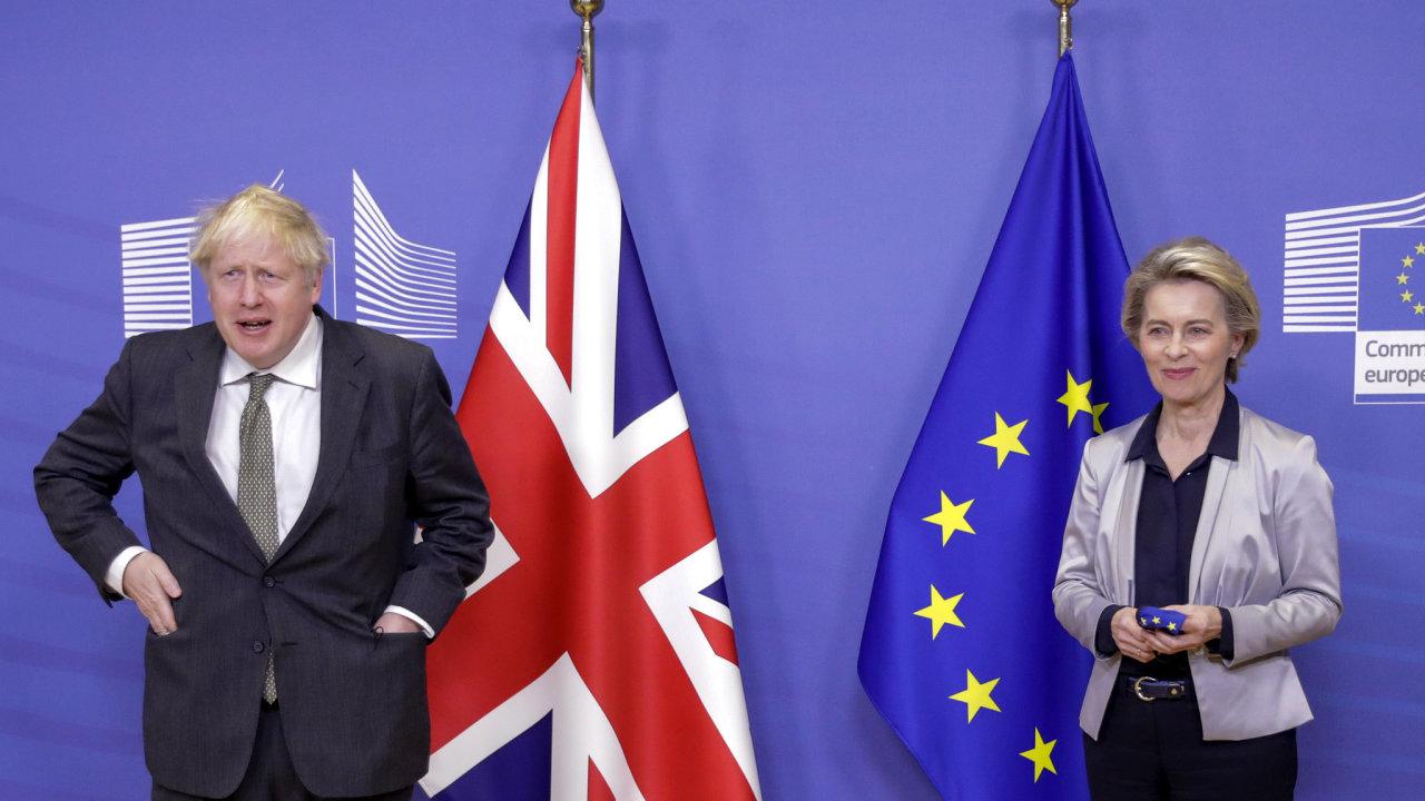 Boris Johnson Ursula von der Leyenová Evropská unie