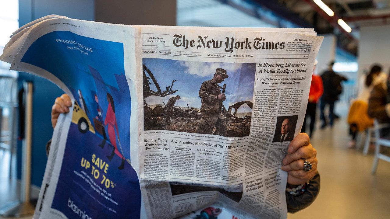 Vybrané články z New York Times se týkají především dopadu covidu-19 a prezidenta Trumpa na společnost a demokracii.