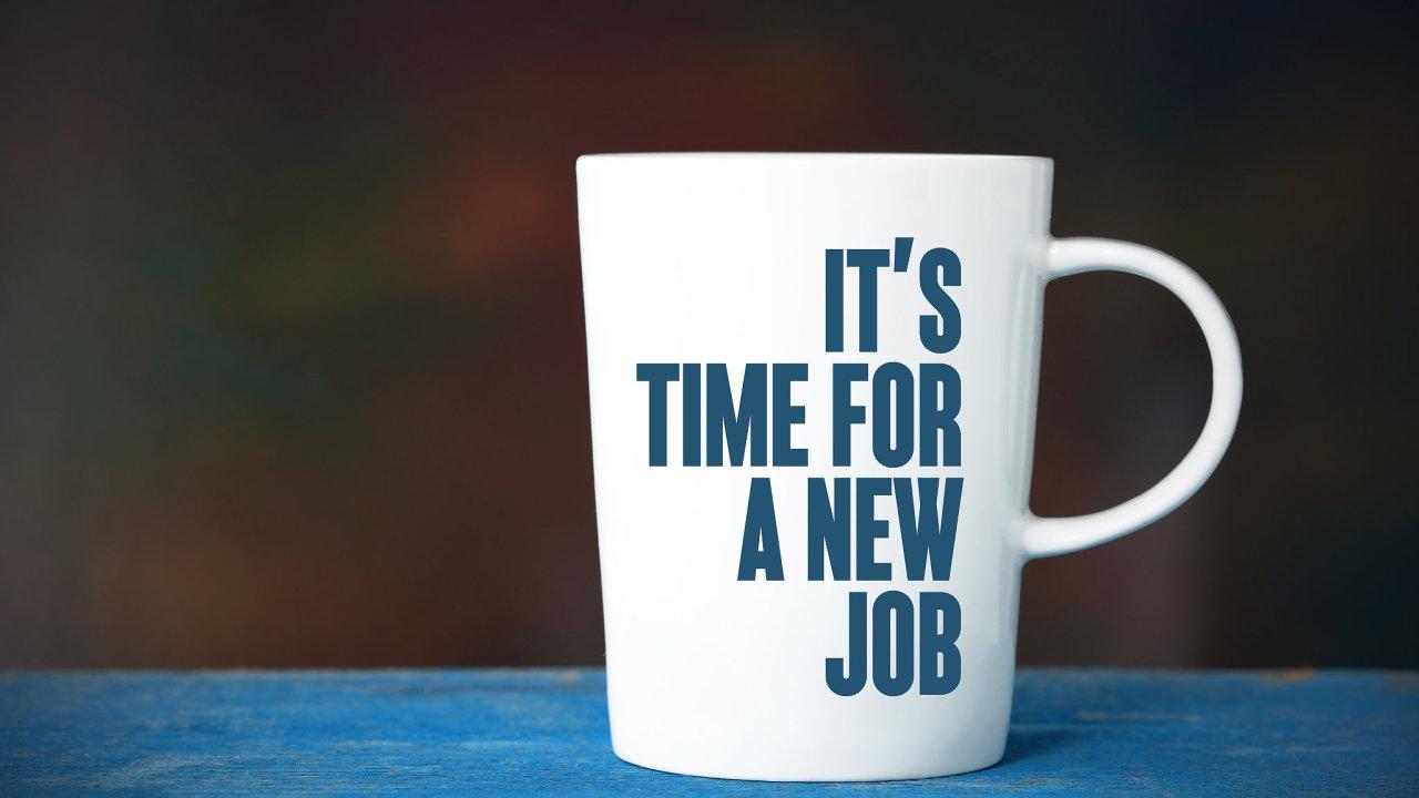 nová práce zaměstnanost hrnek