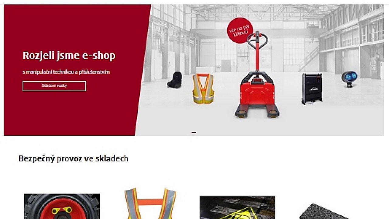 Nový e-shop Linde Material Handling má širokou nabídku manipulační techniky.