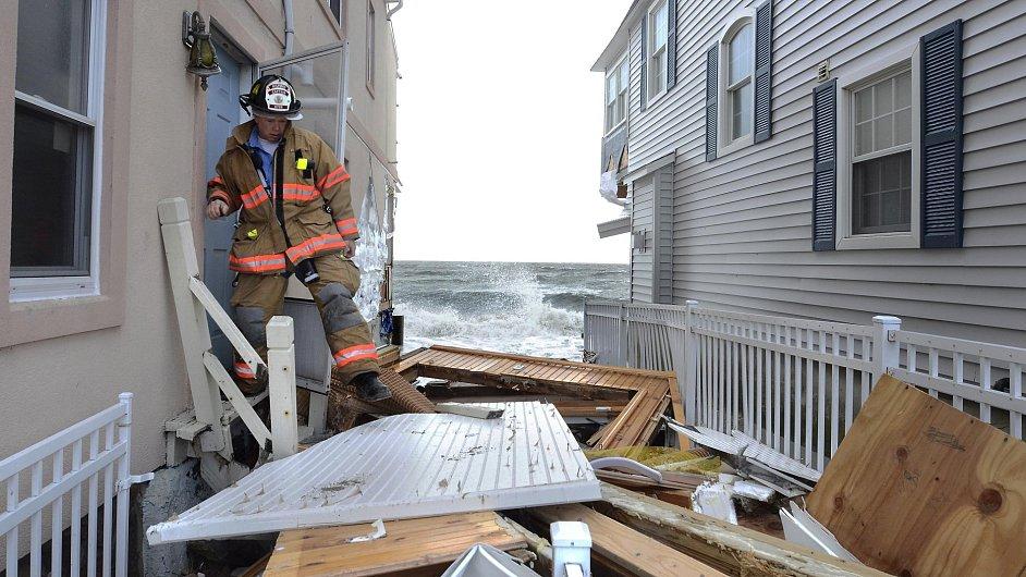 Hurikán Sandy páchal škody v New Yorku. Ilustrační foto