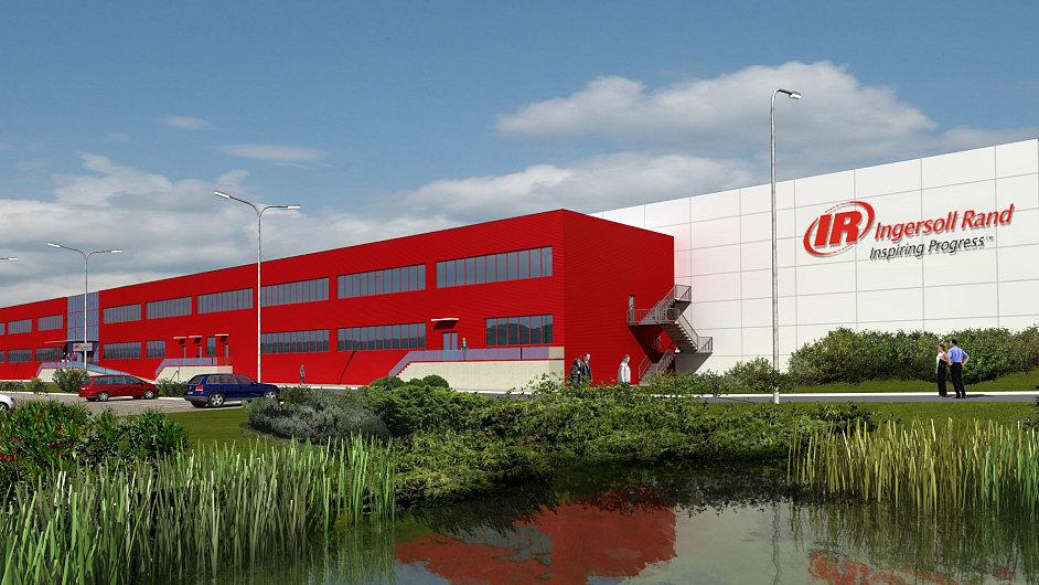 Nová výrobní hala firmy Ingersoll Rand v průmyslové zóně Kolín-Ovčáry, vizualizace
