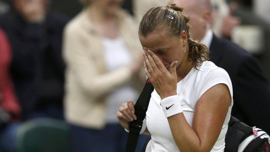 Unavená Petra Kvitová ve čtvrtfinále Wimbledonu