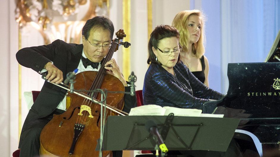 Yo-Yo Ma a Kathryn Stottová, Španělský sál Pražského hradu, 27. dubna 2014
