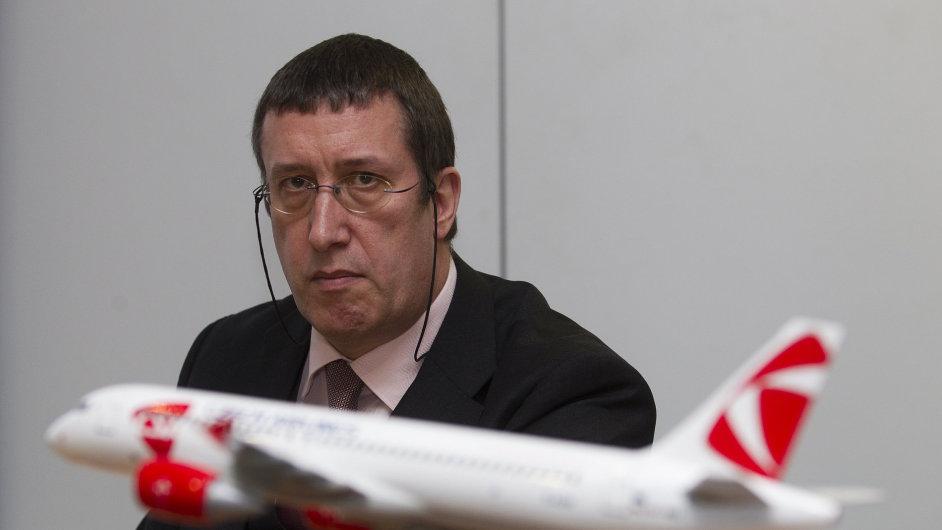 Předseda představenstva ČSA Philippe Moreels.