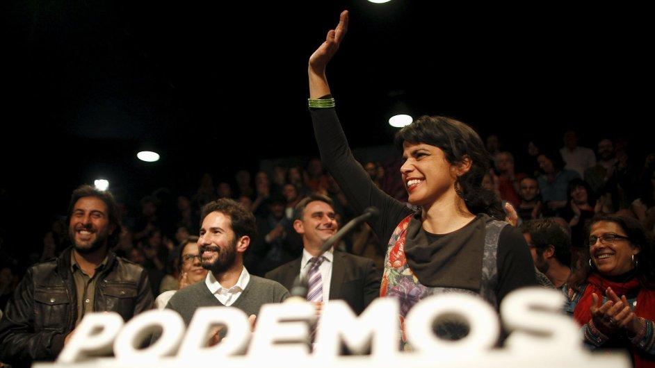 Andaluská regionální kandidátka strany Podemos Teresa Rodriguezová
