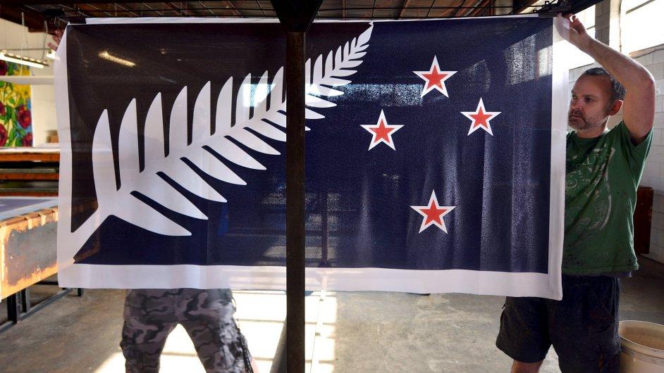Návrh nové vlajky Nového Zélandu schválený v referendu