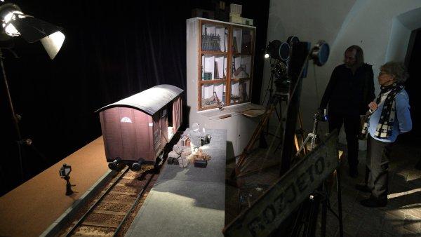 Snímek z výstavy Jiřího Trnky