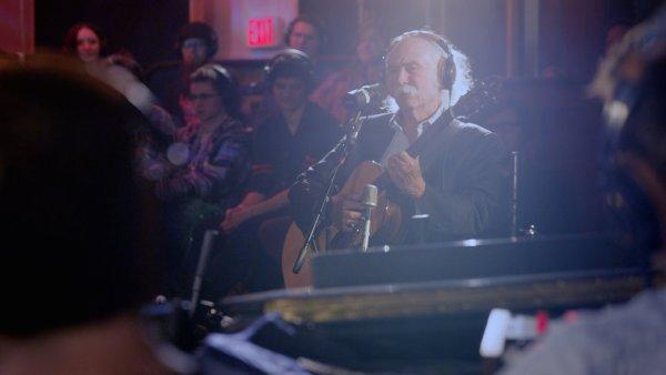 David Crosby na snímku z koncertu se Snarky Puppy.