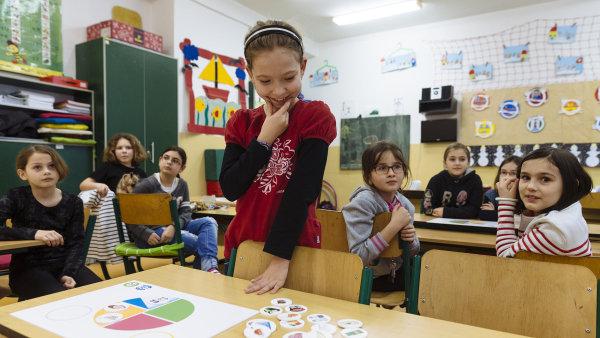 Děti v rámci programu Zdravá pětka nakupují svou snídani