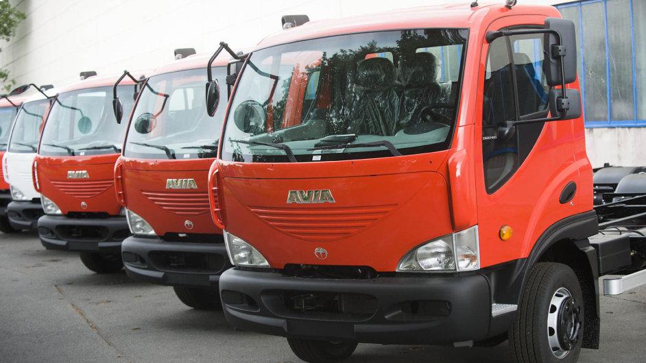 Nákladní vozy značky Avia.