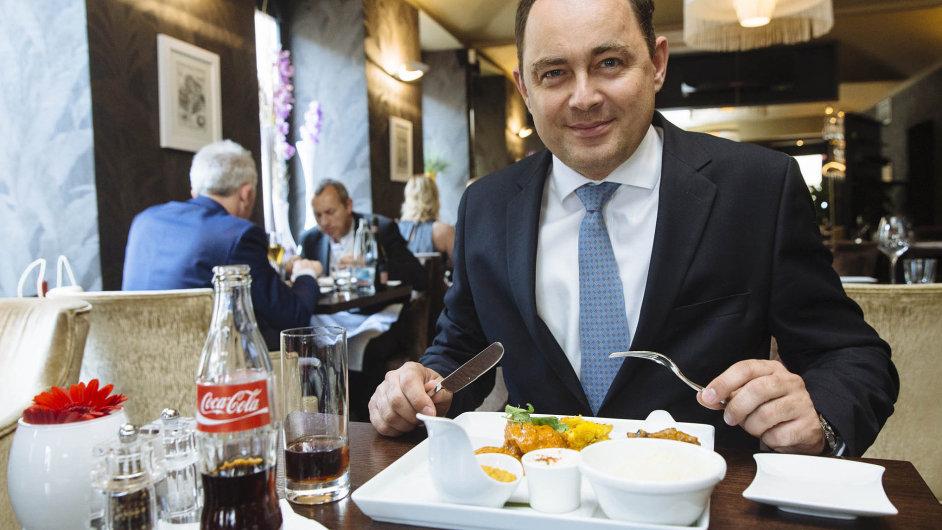 Šéf české a slovenské Coca-Coly HBC v pražské restauraci V Zátiší