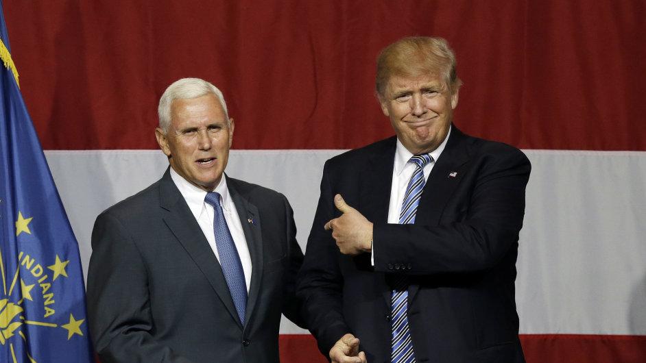 Místo viceprezidentem v případném Trumpově prezidentském kabinetu by obsadil Mike Pence.