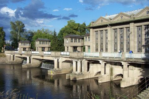 Antonín Engel - Zdymadlo a vodní elektrárna v Poděbradech