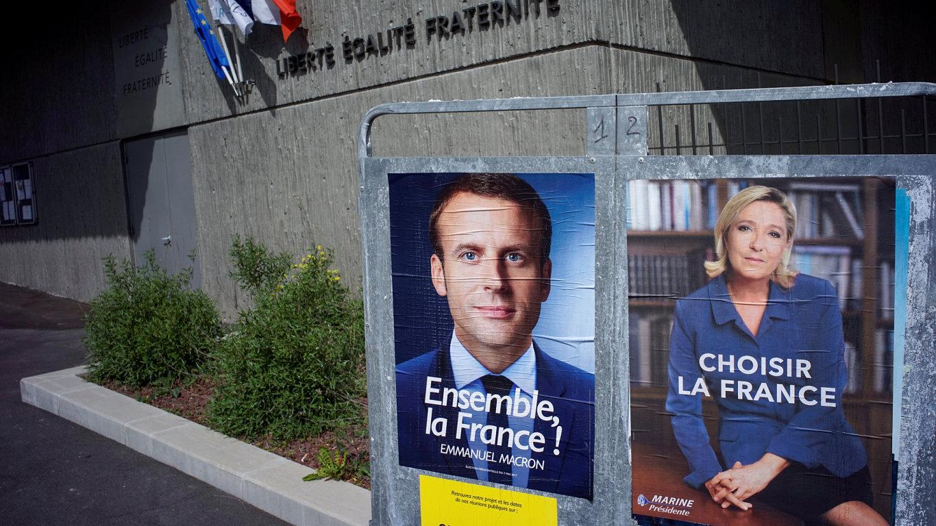 Francouzské volby. Macron. Le Penová.