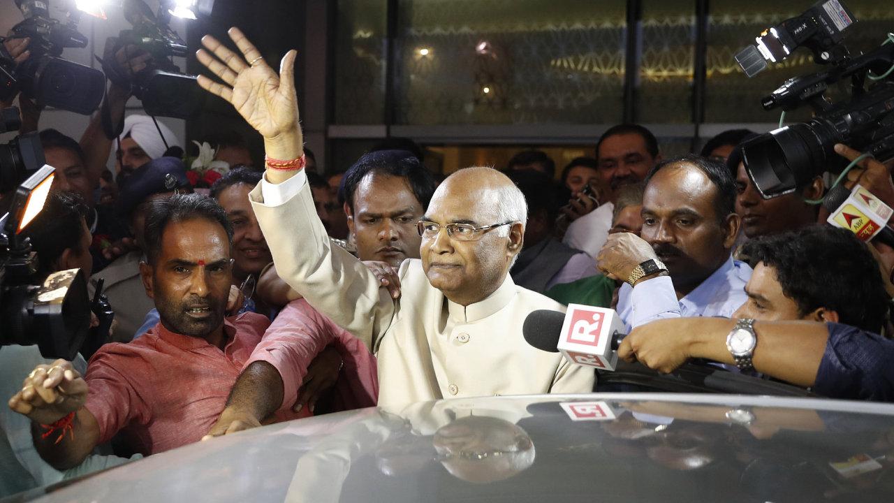 Novým indickým prezidentem je Rám Náth Kóvind.
