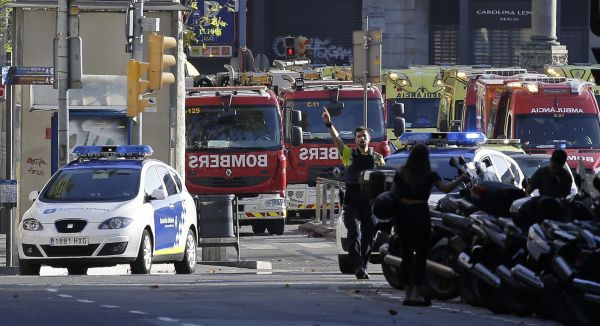 Útok v Barceloně.
