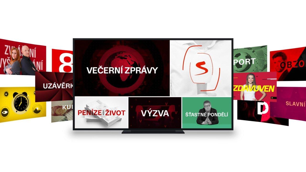 Mozaika pořadů Televize Seznam