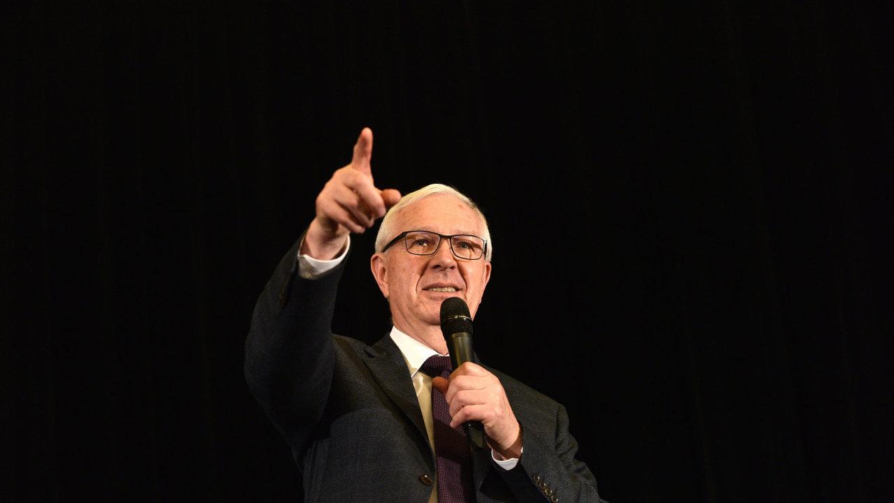 Kandidát na prezidenta Jiří Drahoš během kampaně v Plzeňském kraji