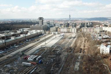 Na nákladovém nádraží Žižkov vzniknou nové byty.