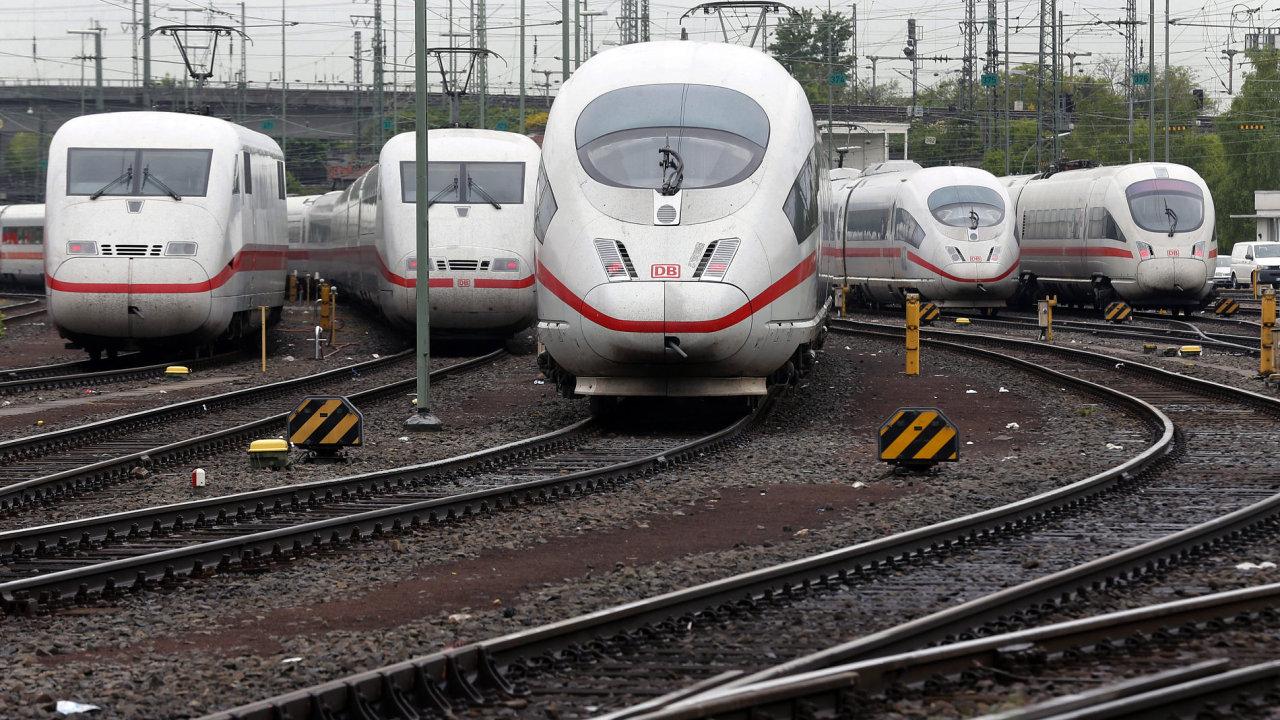 Stávka v Deutsche Bahn.