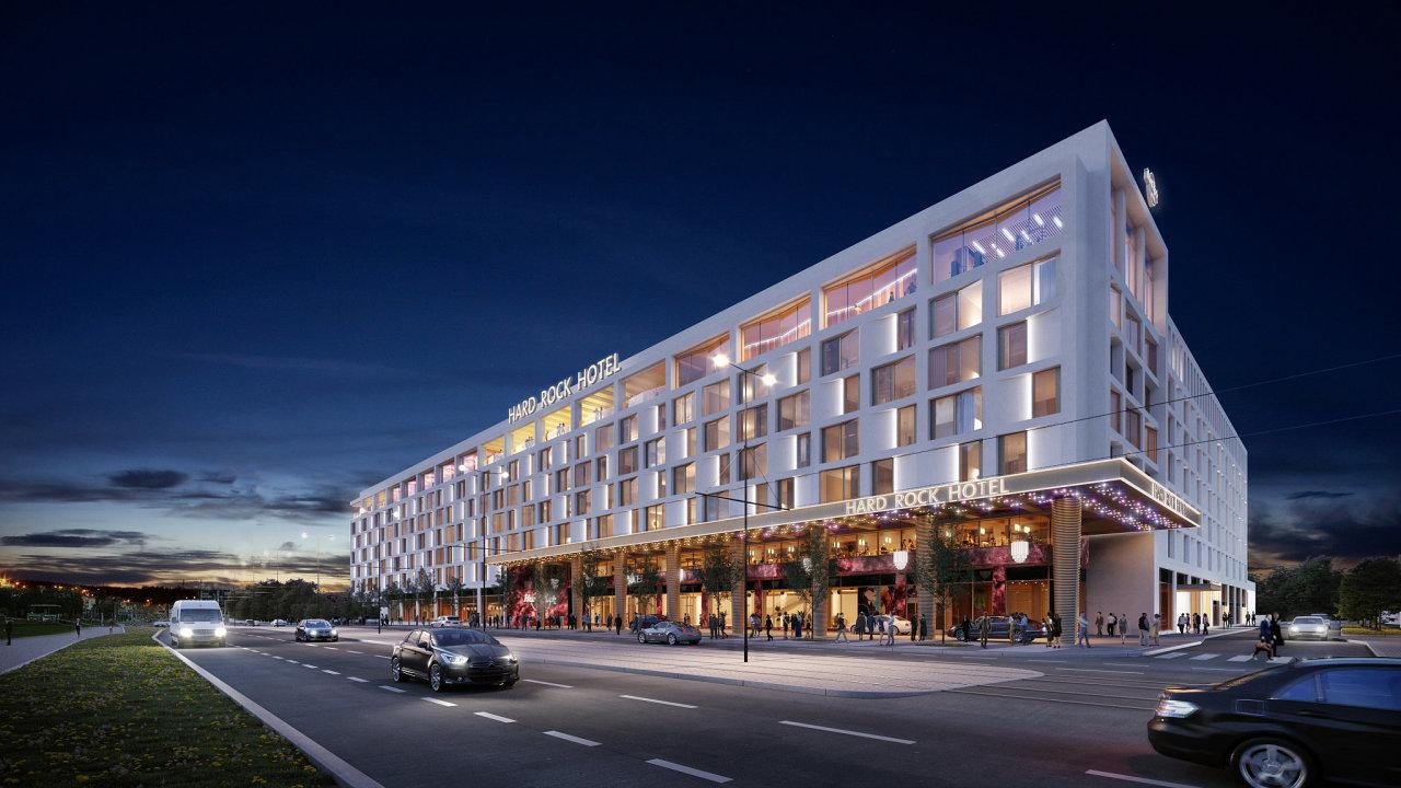 Otevření komplexu Hard Rock Hotel Prague, jehož součástí bude 523 pokojů, kongresové prostory, restaurace, skybar, fitness a spa, je plánováno na první polovinu roku 2023.