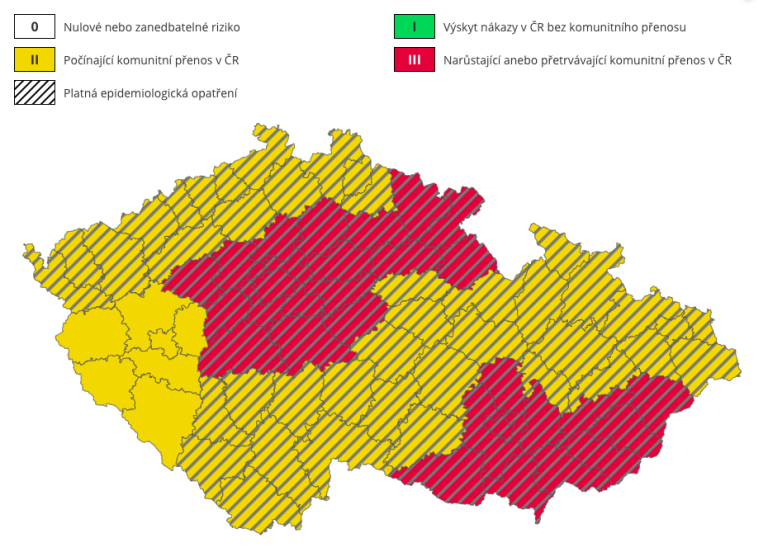 mapa rizika nákazy