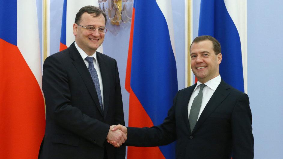 Petr Nečas a Dmitrij Medveděv