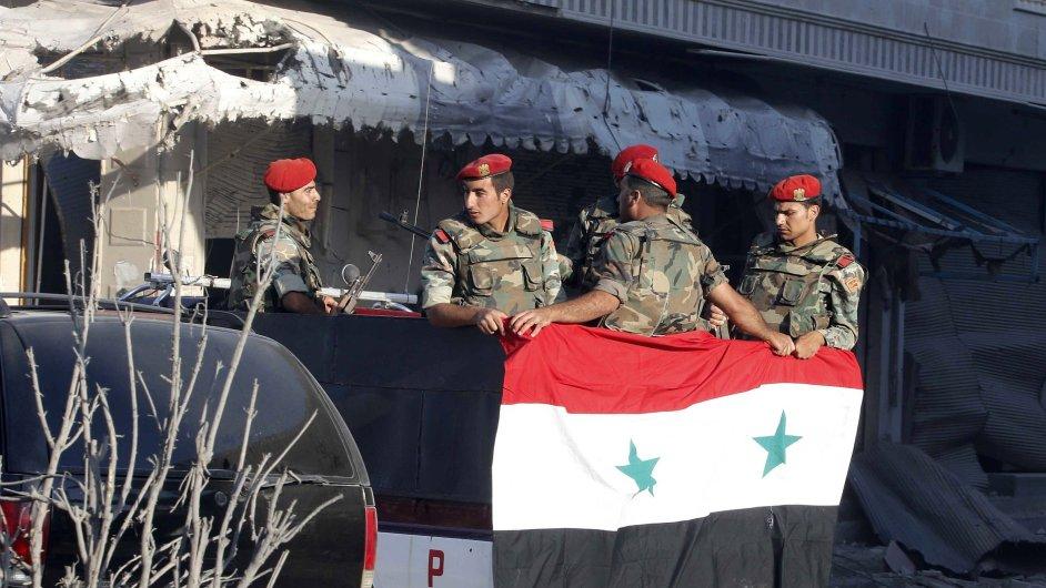 Vojáci bojující za Bašára Asada.