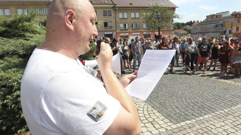 Demonstrace ve Vítkově