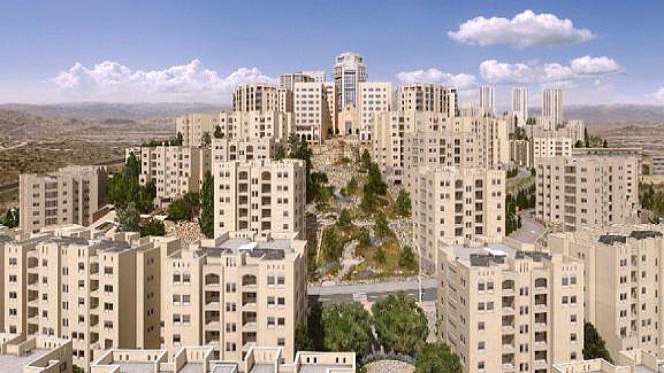 Vizualizace palestinského města Rawábí