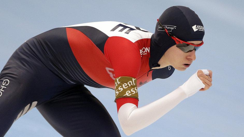 Martina Sáblíková ve tříkilometrovém závodě v Inzellu
