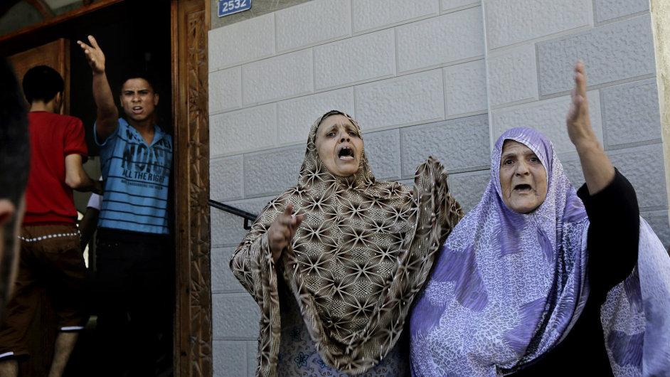 Po náletech v Gaze