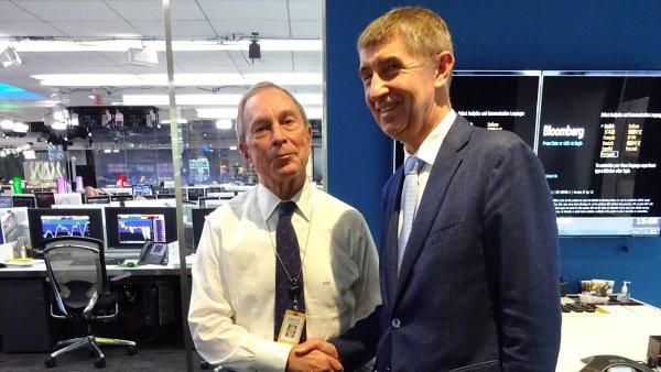 Andrej Babi� s Michaelem Bloombergem