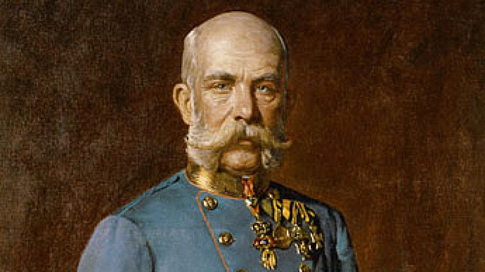 Na snímku detail portrétu Františka Josefa I. od Juliuse von Blaase.