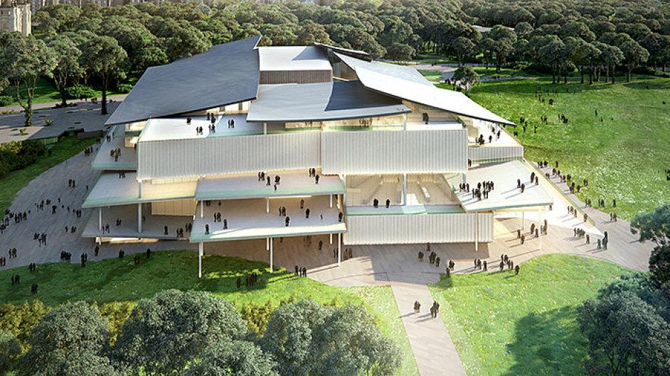Vizualizace nové galerie, kterou pro Budapešť postaví studio Sanaa.
