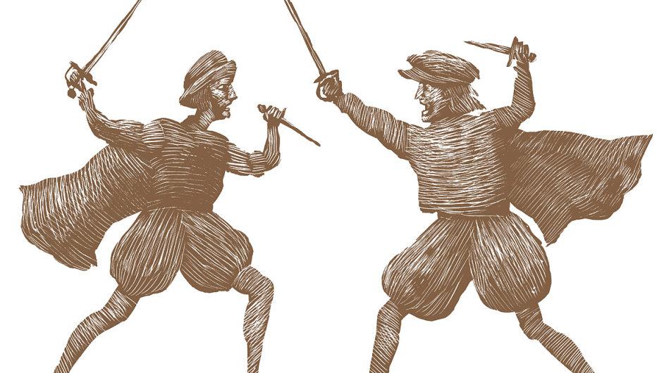 Ilustrace z knihy William Shakespeare - 12 převyprávěných her v historických souvislostech.
