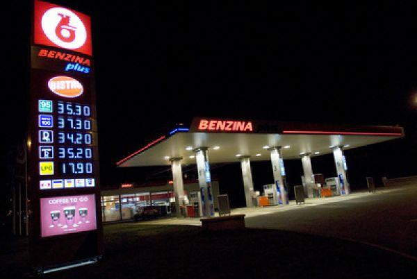 Čerpací stanice Benzina - ilustrační