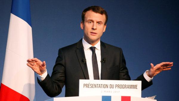 Francouzský prezidentský kandidát Emmanuel Macron.